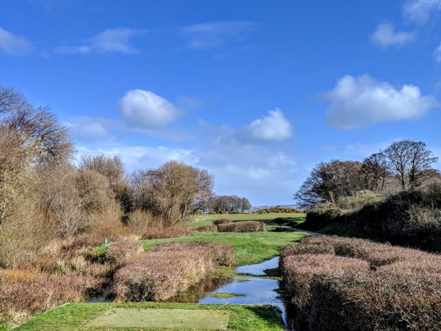 Winter view from the warren 2nd tee
