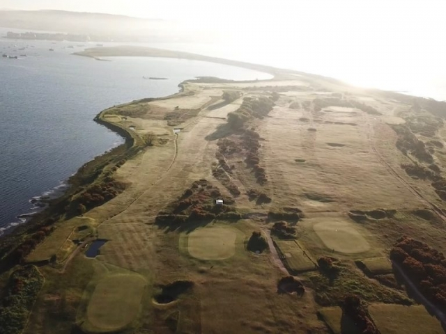 Warren Golf Course from the air